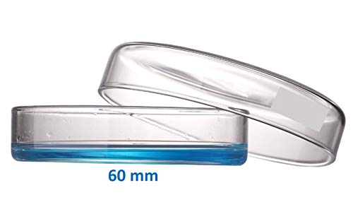 Microyn 60mm OD Glass Petri Dish with Lid, Tissue Culture Dish (Pack of 20)