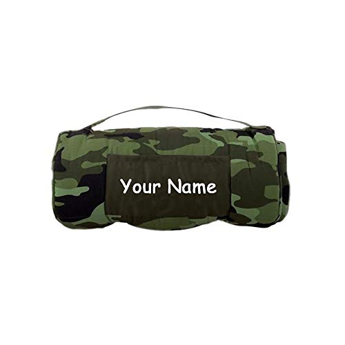 - Stephen Joseph Personalized Camo Print Themed All Over Print Nap Mat with Custom Name