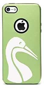 STORK Aluminum and Silicone iPhone 5/5s Protective Case (MULTIPLE COLORS YOU CHOOSE) (Green)