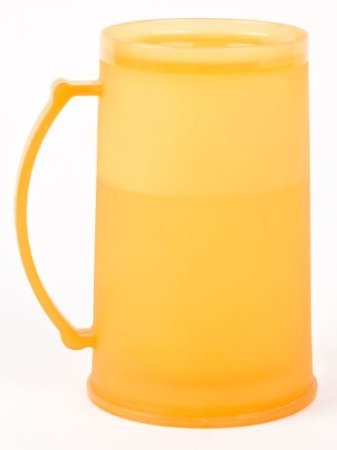 1-Set-of-Four-4-Orange-Freezer-Beer-Mugs-College-Boise-State-Tennessee-Trojans-Texas-Texans-University-Color-Beer-Mugs