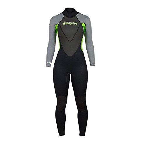 Hyperflex Wetsuits Women's Access 3/2mm Full Suit - (Green, 6)