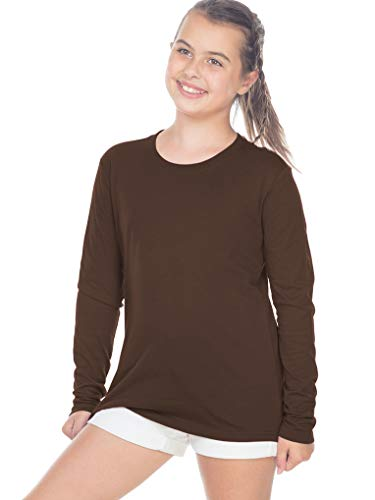 Kavio! Youth Crew Neck Long Sleeve Top Brown M