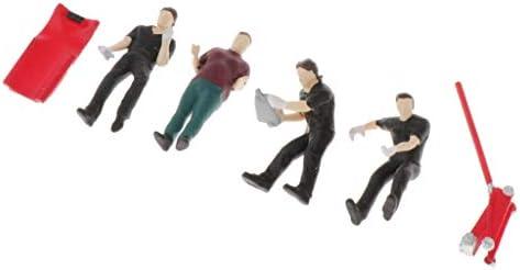 F Fityle 1/43 人形 人物 人々 人間 人間フィギュア 塗装人 鉄道模型・ジオラマ・建築模型・電車模型に 装飾 全2選択 - A