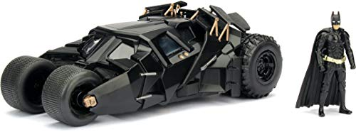 Jada Toys DC Comics 2008 The Dark Knight Batmobile with Batman Figure; 1:24 Scale Metals Die-Cast Collectible Vehicle from Jada
