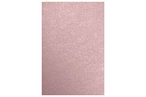 12 x 18 Paper - Misty Rose Metallic - Sirio Pearl (50 Qty.) | Perfect for Holiday Crafting, Invitations, Scrapbooking, Cards and so much more! | 1218-P-M203-50