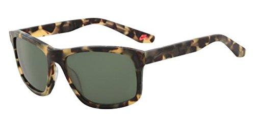 NIKE EV1023-205 Flow Sunglasses (Frame Sunglasses (Green with Gunmetal Flash Lens), Matte Tokyo Tortoise