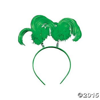 12 St. Patrick's Day Green Ponytail Head Boppers(head bands) from Fun Express~Event and Party Supplies~Parade