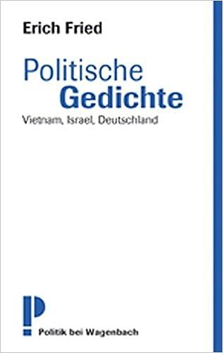 Politische Gedichte Vietnam Israel Deutschland Neu