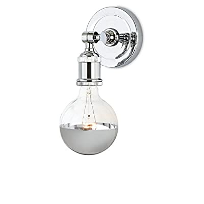 1-Light Hardwire Clifton Wall Sconce Lamp Light with Rain Drop Round Industrial Cage, Vintage Bulb Included, ETL Listed