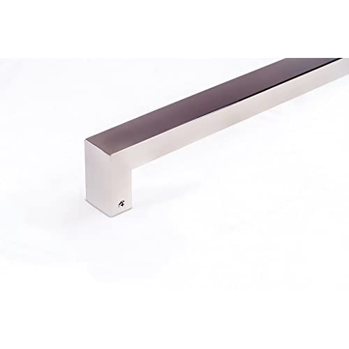 Modern Contemporary 8 inches Square Rectangle Flat Shape Stainless ...