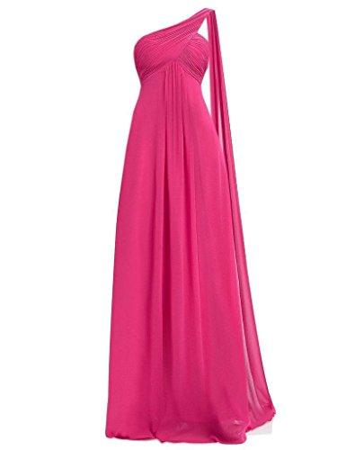 Lang Lavender Bridesmaid for Weddings Hot Shoulder One Damen Fanciest Dress Pink Chiffon znTpqITwa