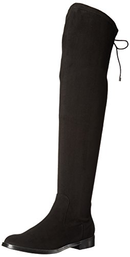 Kenneth Cole REACTION Women's Wind Chime Over The Knee Stretch Low Heel Winter Boot, Black, 5.5 M US by Kenneth Cole REACTION