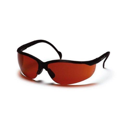 (12 Pair) Pyramex Venture II SB1835S Safety Glasses Black/Bronze