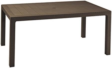 Keter Melody - Mesa comedor exterior de 6 plazas, Color marrón, 94 x 160 x 74 cm: Amazon.es: Jardín