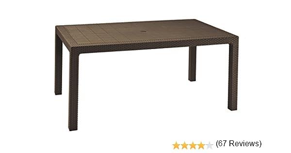 Keter - Mesa comedor exterior Melody de 6 plazas, Color marrón ...