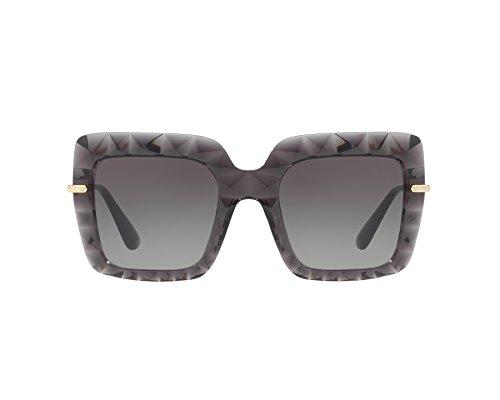 Dolce & Gabbana Women's Bold Square Sunglasses, Black/Grey, One Size