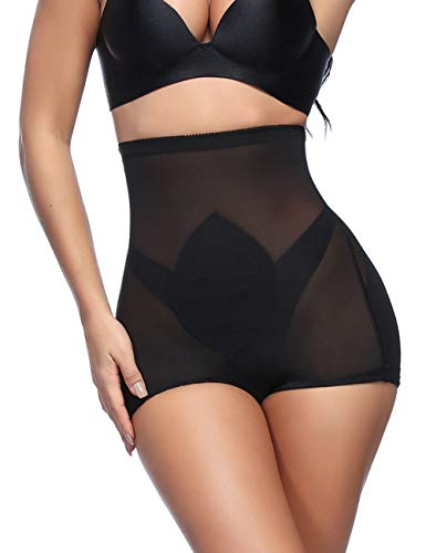 FeelinGirl Women's Lace Shapewear Smooth Body Briefer (XXL, Black8) ()
