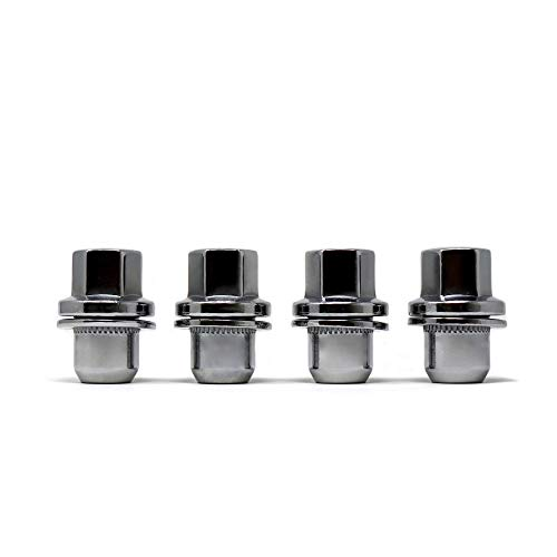 White Knight 5309RR Chrome Range Rover OEM Factory Style Lug Nut with Washer 4 Pack
