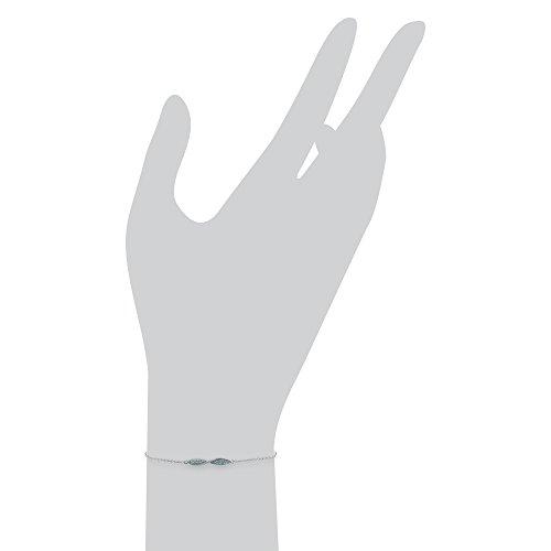 Gemondo Topaze-Bracelet Femme-Or blanc 9 carats-Topaze bleue - 0.31ct Bracelet 19 cm
