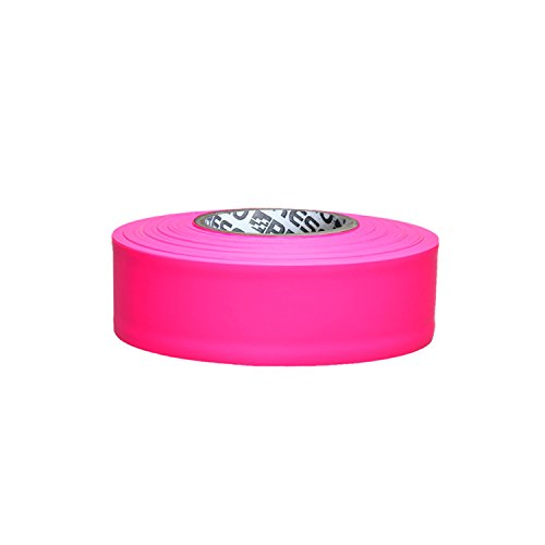 (Presco PresGlo Taffeta Roll Flagging Tape: 1-3/16 in. x 50 yds. (Neon Pink))