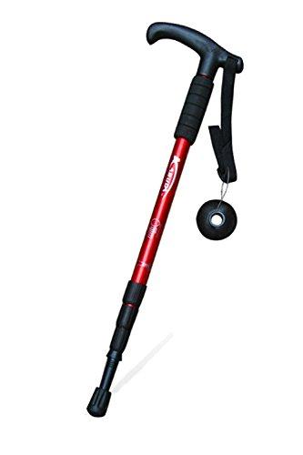 Firm Varnish (Trekking Poles Hiking Stick Folding Alpenstocks for Travel Hiking Climbing Walking Stick (Red, T))