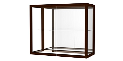 Waddell 894M-MB-C Heirloom 36 x 30 x 14 in. Wall or Top Display Case for Heritage Counter44; Mirror Back - Cordovan