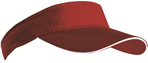 SPORTS SUN VISOR SANDWICH PEAK GOLF TENNIS CAP HAT - 12 COLOURS