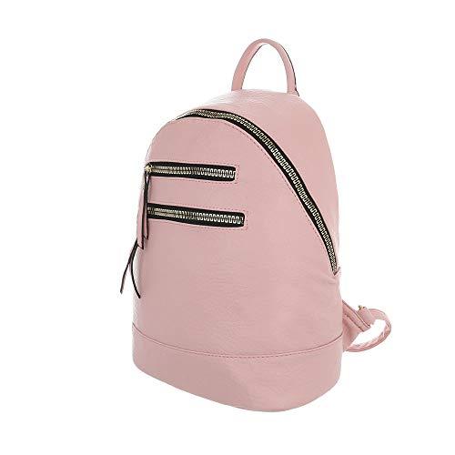 One porté à pour clair Design Sac Size au Ital dos femme main rose IPOpqU