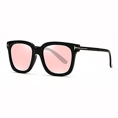 Cuadrada Polarizados xin Hipster Beat Redonda Color Retro 1 WX Red 2 Gafas Hembra Caja Street Grande Cara Net Vidrios De Sol xXwTCqCA