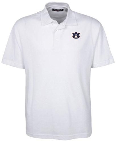 NCAA Auburn Tigers Men's Classic Pique Polo Shirt, White, X-Large
