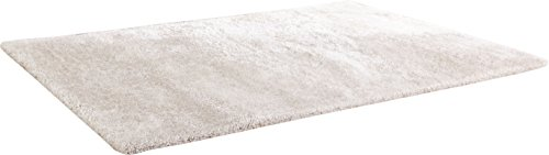 CHIC RUGZ Hand Tufted Shag Viscose Solid Area Rug, 5' x 7', Off White ()