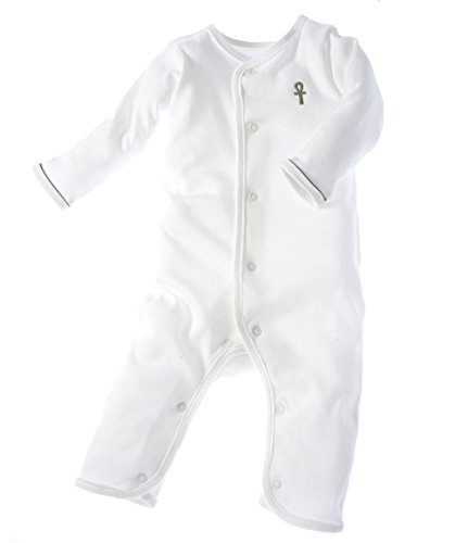 little-pharo-100-extra-long-staple-egyptian-cotton-one-piece-bodysuit-ivory-with-green-piping-size-0