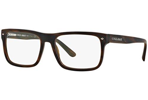 Giorgio Armani Montures de lunettes 7043 Pour Homme Dark Tortoise, 54mm 5303: Matte Brown Horn