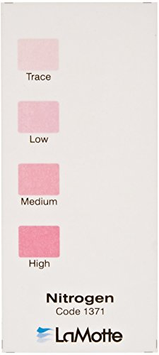 LaMotte 1371 Soil pH Test Kit Color Chart, Nitrogen