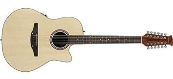 Ovation AB2412II-4 - Guitarra acústica eléctrica (12 cuerdas), color natural