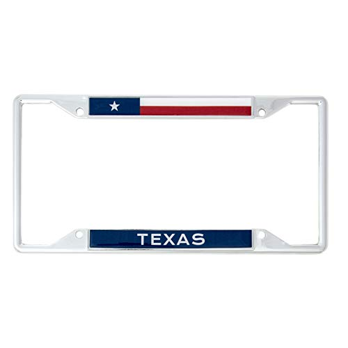 Desert Cactus State of Texas Flag License Plate Frame for Front Back of Car Vehicle Truck Texan (License Plate Frames Texas)