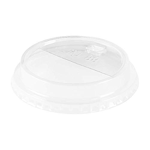 Karat C-KDL626-HH 98mm PET Dome Lids - Half Moon Flip Lids (Case of 1000) (Dome Half Moon)