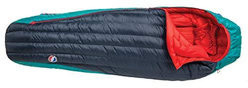 Big Agnes Women's Daisy Mae 0 (650 DownTek) Sleeping Bag, Regular, Right Zip, Navy/Aqua