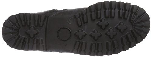 Sioux Gabina-Tex-Wf Damen Biker Boots Schwarz (Schwarz)