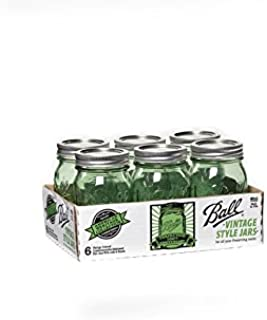 product image for Ball Heritage Collection Pint Jars with Lids and Bands, Green, Set of 6