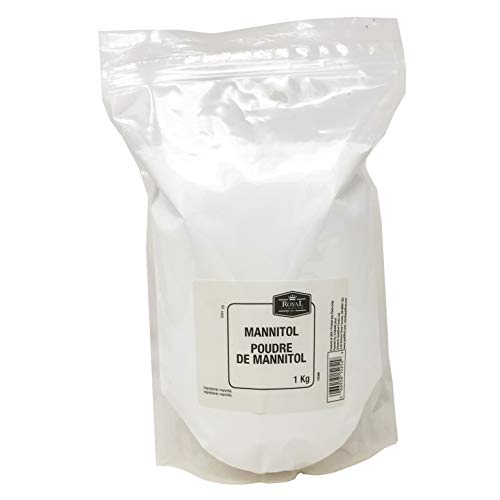 Royal Command Pure Mannitol Powder - 1 Kg (2.2 lb) | Natural Sugar Free Sweetener For Diabetics, Low Glycemic Index, Non GMO, No Additives, Keto, Paleo, Fine Texture