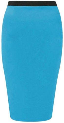 occasionnels moulante plus femmes maillot jupes Turquoise crayon nouvelles on midi taille la tron ZFTAqwP
