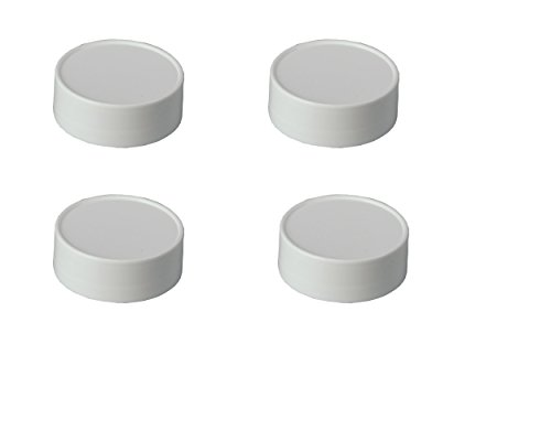(Jarming Collections Mini Plastic Storage Lids - 1 3/4 inch -BPA Free- Leak Proof -Made in The USA -LIDS ONLY (White, 4))