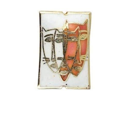 1 Small Cloisonne CAT Face Contemporary 31x20mm Focal ()