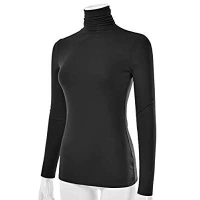 EIMIN Women's Long Sleeve Turtleneck Lightweight Pullover Slim Shirt Top (S-3XL) at Women's Clothing store