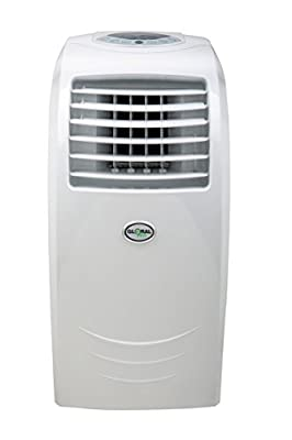 Global Air 12,000 BTU Portable Air Conditioner Cooling/Heating/Dehumidifying with Remote Control in White