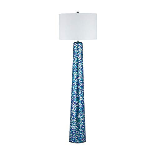 (Diamond Lighting 8983-044 Floor lamp Turquoise Mosaic)