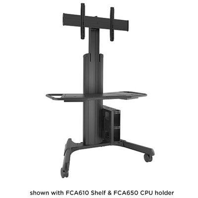 Chief LPAUB Fusion Large Manual Height Adjustable Mobile Cart - Cart for video conferencing system - black - screen size: 40 inch - 71 inch - mounting interface: 200 x 200 mm, 800 x 400 mm