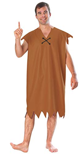 Barney Rubble Adult Costume - M Brown