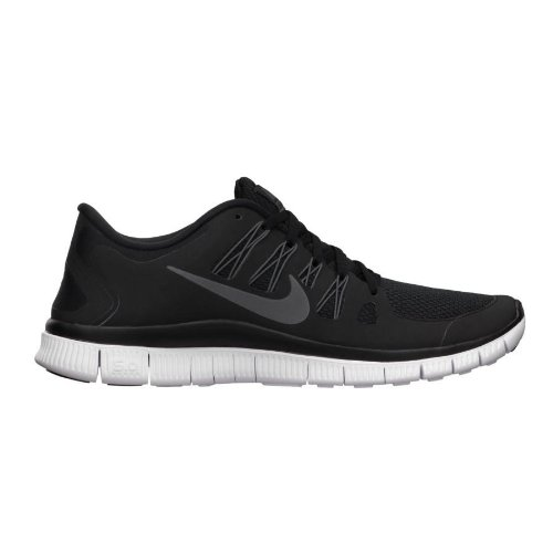 2b53795e76f7 Galleon - Nike Men s Free 5.0+ Breathe Running Black   Metallic Dark Grey    White Synthetic Shoe - 12.5 D(M) US